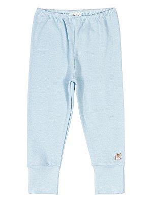 Calça Culote Up Baby em Suedine Básica Azul Claro
