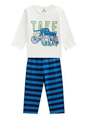 Pijama Brandili Take a Nap Malha Longo Infantil Masculino