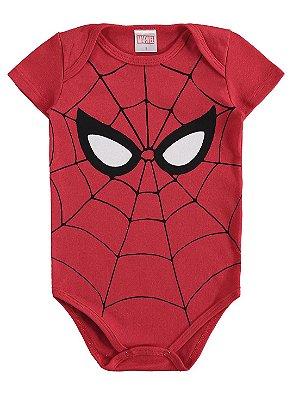 Body para Bebê Marlan Curta Malha Homem Aranha Marvel
