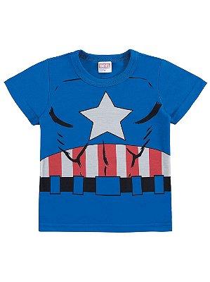 Camiseta Marlan Curta Malha Avengers Marvel Capitão América