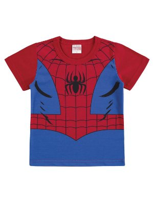 Camiseta Marlan Curta Malha Avengers Marvel Homem Aranha