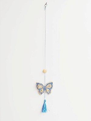 Móbile Decorativo Ceramekids para quarto de Bebê Borboleta Azul