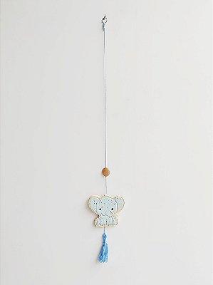 Móbile Decorativo Ceramekids para quarto de Bebê Elefante Azul