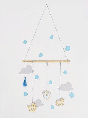 Móbile Decorativo Ceramekids para quarto de Bebê Azul