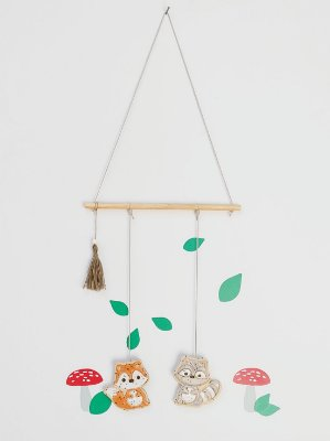 Móbile Decorativo Ceramekids para quarto de Bebê Floresta