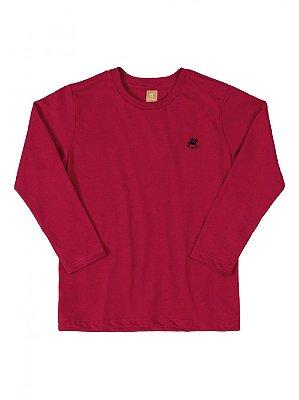 Camiseta Up Baby Longa Básica Menino Algodão Vermelha