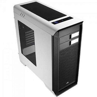 Gabinete Gamer Mid Tower AERO-1000 EN55309 Branco AEROCOOL