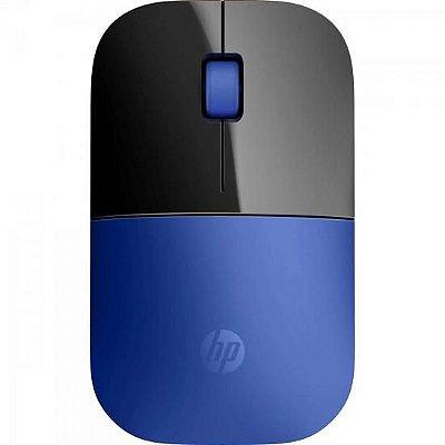 Mouse sem Fio USB 1200 DPI Z3700 Preto/Azul HP