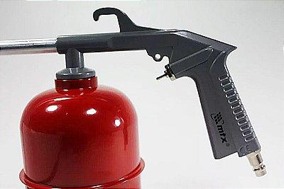 Pistola Pulverizadora bico longo caneca metal