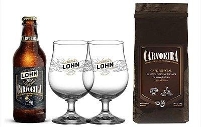 Kit Carvoeira + Café Carvoeira + 2 copos