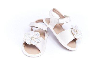 Sandália Baby Florzinha - Off White