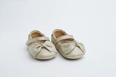 Sapatilha Baby Couro - Nude Perolizado