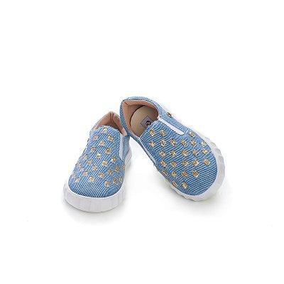 Tênis Infantil Slip-On - Trama Jeans