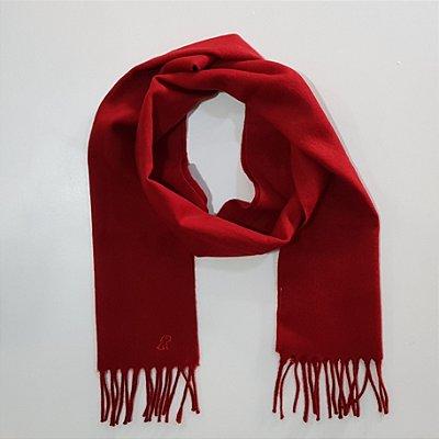 Cachecol vermelho liso