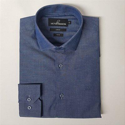 Camisa masculina manga longa fio 50