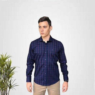 Camisa Social Xadrez Ecko
