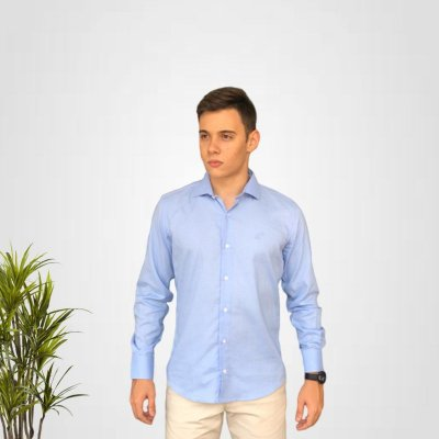 Camisa Social Azul Celeste