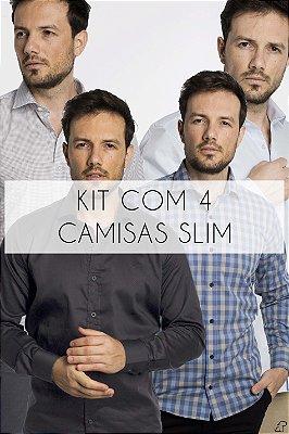 Kit Com 4 Camisas Sociais