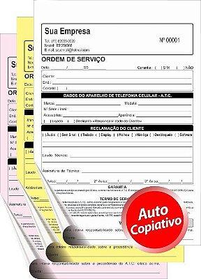TALÃO AUTOCOPIATIVO    10x15 cm – 3 vias  (Comandas, Orçamentos, Pedidos,etc)
