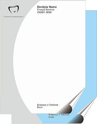 RECEITUÁRIO 20x30 cm - 2 vias (Médicos, Hospitais, Dentistas, Clínicas, etc)