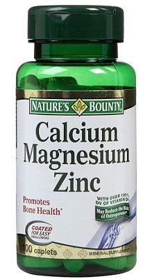 Cálcio, Magnésio e Zinco Importado - Previne Osteoporose