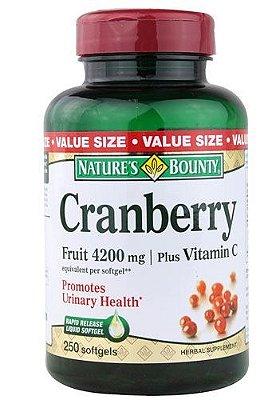 Cranberry Importado Concentrado 4200mg - 250 cápsulas Econômico