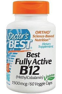 Vitamina B12 Importada 60 cápsulas Metilcobalamina 1500mcg Alta Absorção