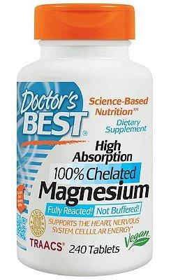 Magnésio Importado 100% Quelado 240 cápsulas Alta Absorção