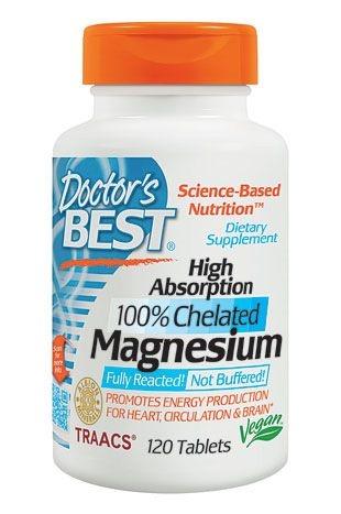 Magnésio Importado 100% Quelado 120 cápsulas Alta Absorção