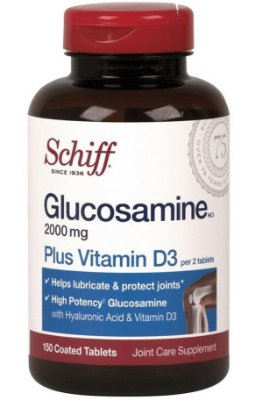 Glucosamina 1000mg com Vitamina D3 e Ácido Hialurônico em Cápsulas Importado