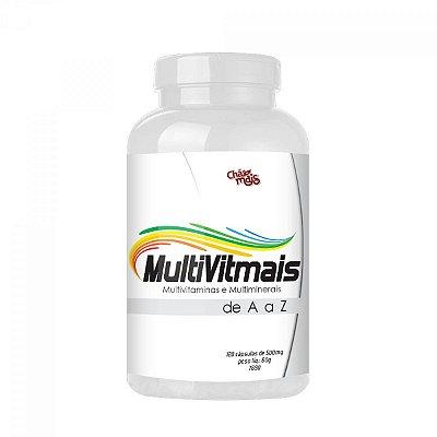 MultiVitMais - Polivitamínico e Multiminerais de A a Z – 120 Cápsulas - 500mg – Chá Mais