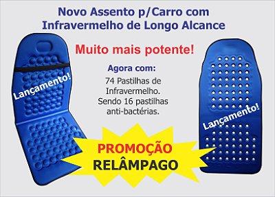 ENCOSTO TERAPÊUTICO P/BANCO DE CARROS COM INFRAVERMELHO LONGO