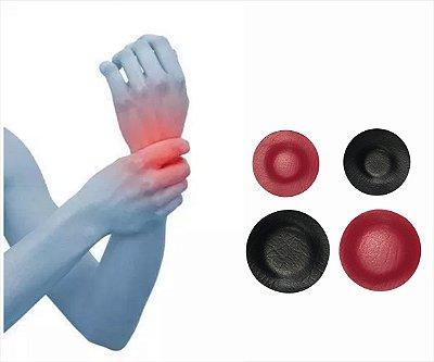 PULSO / MÃO / TÚNEL DE CARPAL / ARTRITE - Kit de super ímãs para alívio da dor e tratamento complementar