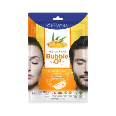 MÁSCARA FACIAL BUBBLE O²  CÚRCUMA SMART GR