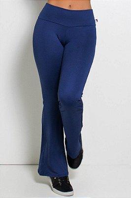 Calça Flare Azul