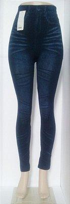 Calça Legging Jeans Amassado