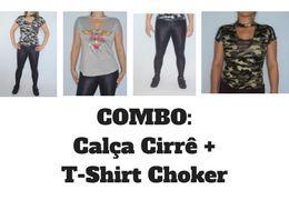 Combo Calça Cirrê + T-Shirt Choker