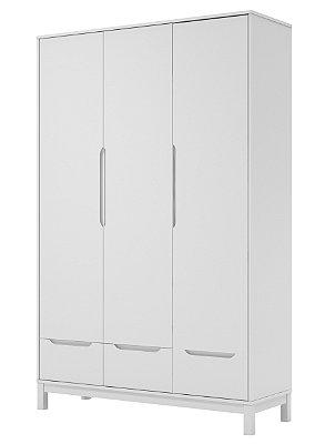 Armário Cozy Branco 3 portas e 3 gavetas - Quater