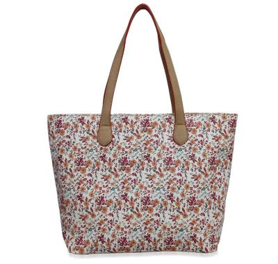 BOLSA SHOPPING ESTAMPA FLORES