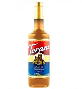 Xarope Torani - Creme de Banana - CX com 2 Garrafas de 750ml cada