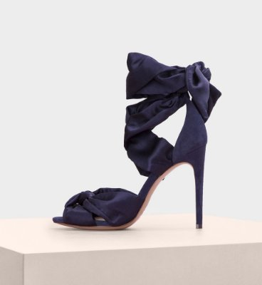 KATHERINE SILK SUEDE NAVY NIGHT SHADE