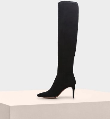 MICHELA TUSCAN SUEDE STRETCH BLACK