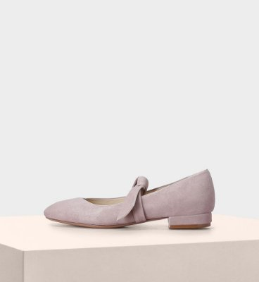 ANTOINETTE FLAT SUEDE TOSCANO CAMEO