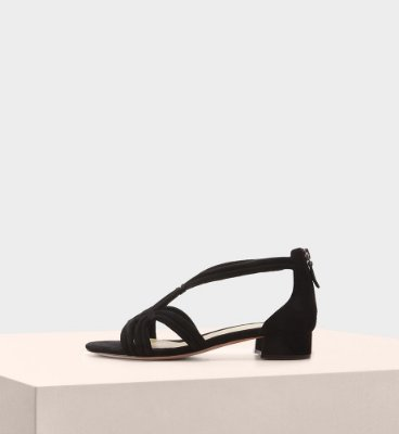 GIOVANNA FLAT SUEDE BLACK
