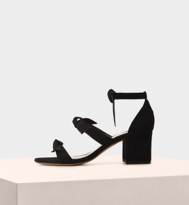 LOLITA BLOCK SUEDE BLACK
