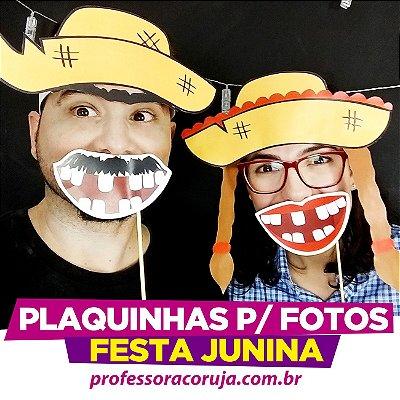 Placas para foto de Festa Junina | Produto Digital