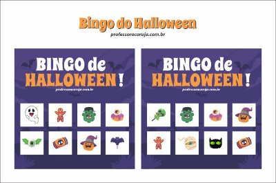 Bingo de Halloween - Dia das Bruxas   Produto Digital