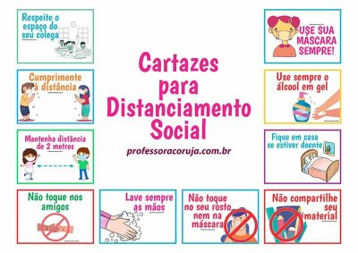 Cartazes para ensinar distanciamento social | Produto Digital