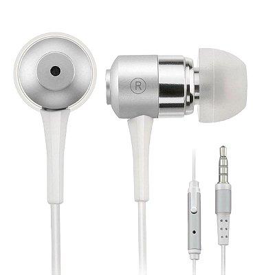 Fone de Ouvido Multilaser Auricular C/Mic Prata P2 - PH062