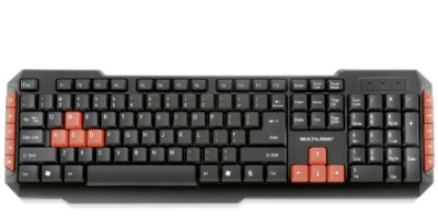 Teclado Sem Fio 2.4Ghz Multilaser Multimidia Gamer Red Keys USB - TC191